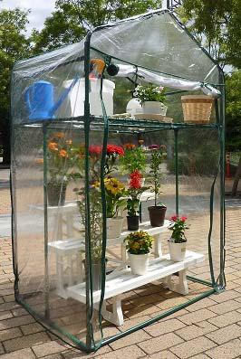 簡単設置の温室