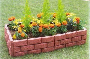いろんなサイズの花壇を作れる!